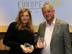 Allan Little and Jane Beresford, Winners of the 2012 Reporting Europe Prize
