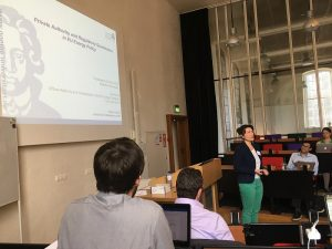 Sandra Eckert presents her paper